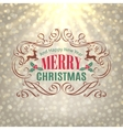 Christmas Shine Golden Greeting Card vector image vector image