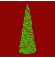 Christmas tree Winter pattern vector image vector image