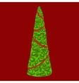Christmas tree Winter pattern vector image vector image