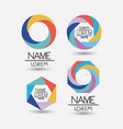 collection of colorful abstract geometric symbols vector image