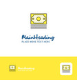 creative dollar logo design flat color logo place vector image vector image
