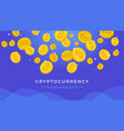 cryptocurrency abstract background vector image