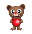 Cute brown teddy bear vector image vector image