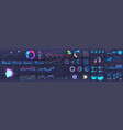 dashboard infographic charts graph and graphic vector image vector image