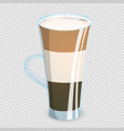 delicious three layered coffee drink in a vector image vector image