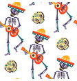 dia de los muertos greeting card for vector image