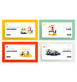dirty kids landing page template set naughty vector image vector image
