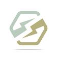 electricity power icon design symbol logo abstract vector image vector image