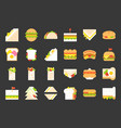 fast food icon shawarma sandwich hot dog grilled vector image