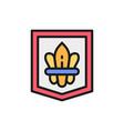fleur de lis heraldic coat arms lily flowers vector image