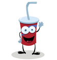 Funny Fast Food Drink vector image vector image
