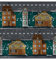 German buildings under snow vector image