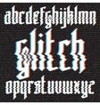 Glitch distortion gothic font vector image vector image