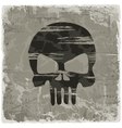 Grunge vintage background with skull vector image