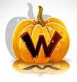 Halloween Pumpkin W vector image vector image
