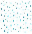 hand drawn rain water droplets pattern vector image