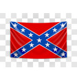 hanging flag confederate confederate states vector image vector image