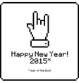 Happy new year card with sign of the horns vector image vector image