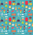 hotel theme seamless pattern vector image