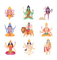 indian characters gods fantasy mascots indian vector image vector image