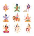 indian characters gods fantasy mascots vector image vector image