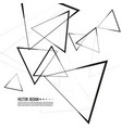 intersecting triangles pattern vector image vector image
