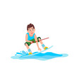 kitesurfing sport and sure boy vector image vector image