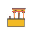knossos palace icon cartoon style vector image vector image