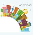 las vegas city skyline with color buildings blue vector image vector image