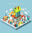 learning process online education isometric vector image vector image