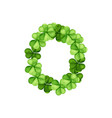 letter o clover ornament vector image vector image