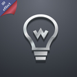 Light bulb icon symbol 3D style Trendy modern vector image