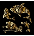 Lizards Polynesian tattoo style vector image vector image