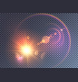 magical space flash effect with colorful halo vector image vector image
