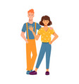 man and woman hugging people in love together vector image