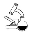 microscope medical with tube test vector image