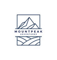 mount peak mountain logo icon vector image vector image