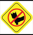 no fight sign vector image