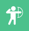 olympic games archery player athlete icon vector image vector image