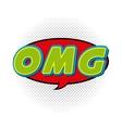 omg comic pop art style vector image vector image