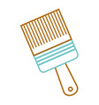 paint brush tool equipment renovation vector image vector image