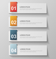 paper infographic43 vector image vector image
