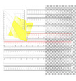plastic rulers vector image vector image