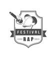 rap festival logo vector image vector image