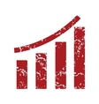 Red grunge growing graph logo vector image vector image