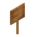 retro wood board icon isometric style vector image vector image