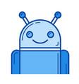 robot line icon vector image vector image