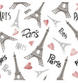 seamless background with symbols paris vector image vector image