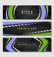 set horizontal futuristic banners vector image vector image