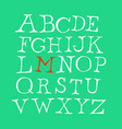 set letters english font alphabet of vector image